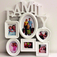 Home Decoration Photo Frame Europe Style Creative 6 box Family Combination Photo Frame For Picture 3D Wall Hanging Wedding Gift success style polyresin photo frame 4 x 6 picture