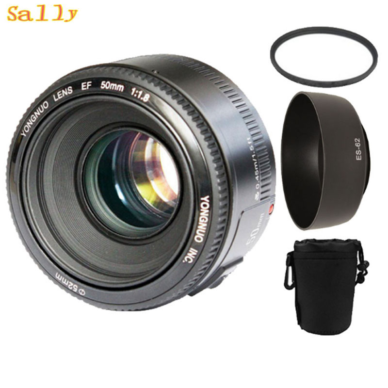 YONGNUO YN50mm f1.8 AF MF Lens YN 50mm Auto Focus lens for Canon EOS DSLR Cameras with 3 gifts yongnuo 50mm f1 8 lens for nikon dslr camera yongnuo large aperture auto focus lens as af s 50mm 1 8g