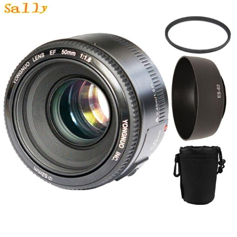 YONGNUO YN50mm f1.8 AF MF Lens YN 50mm Auto Focus lens for Canon EOS DSLR Cameras with 3 gifts meike dslr camera built in 2 4g battery grip for canon eos 7d mark ii as bg e16