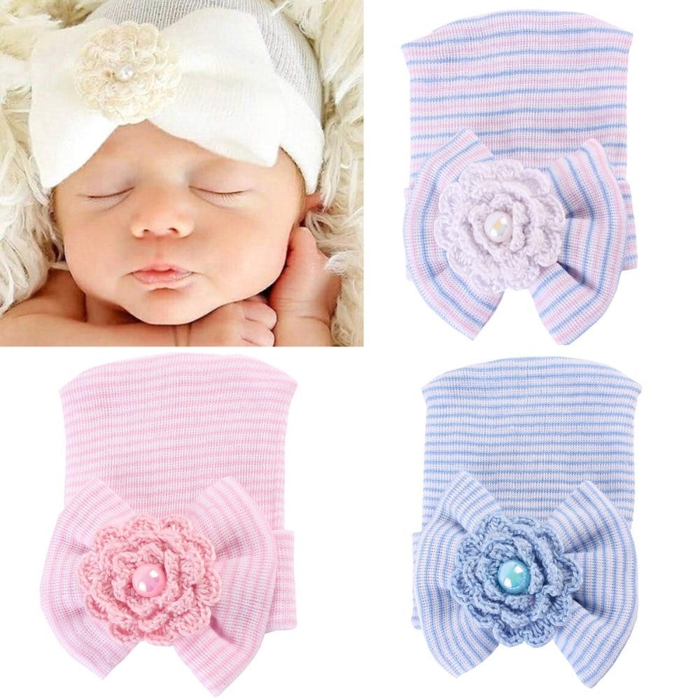 От 0 до 6 месяцев младенческой новорожденных Мальчики Девочки Подставки для фотографий цветок хлопка шапочки мягкая шляпа подарок Детские ш...