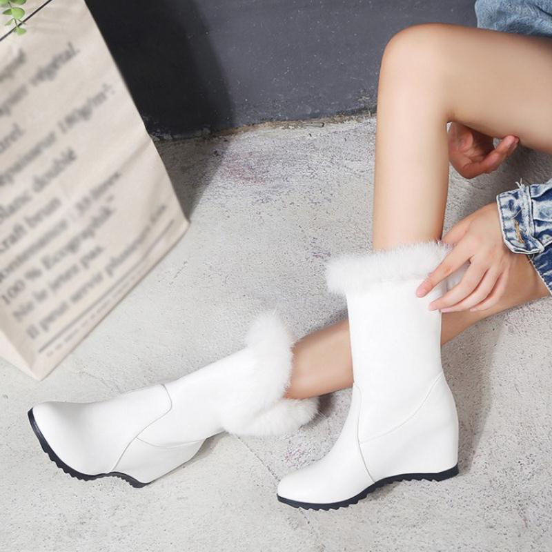 d02103c61c44 RAZAMAZA Women Wedges Snow Boots Fashion Winter Women S Shoes Keep ...