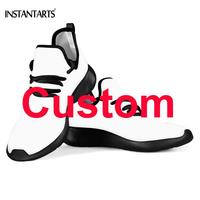 INSTANTARTS Custom Your Own Image/Picture/Text/Logo/Name Printing Women Men Running Shoes Breathable Light Flying Woven Shoes