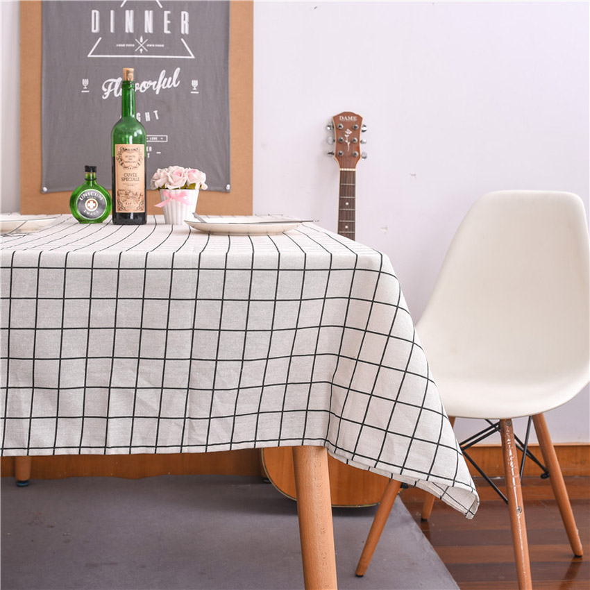 Furniture Dust Cover Fabric: Aliexpress.com : Buy Plaid Table Cloth Cover Cotton Linen