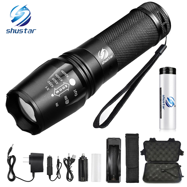 Glare LED Flashlight outdoor lighting Led torch Zoomable 5 Lighting modes Used for hunting camping adventure night rides, etc.