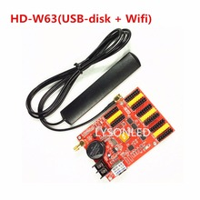 2017 Hot Sale 3pcs/Lot HD-W63 USB-Disk+Wifi P10 LED Display Module Control Card, Single&Dual Color LED Display Controller Board