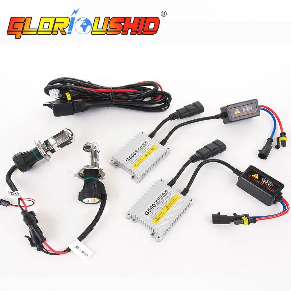 1 set h4 lampe xénon AC 55 W G500 hid kit de conversion lumière xénon 9007 H13 bi xénon 4300 k 5000 k 6000 k 8000 k h4 hi faible Ballast HID - 6