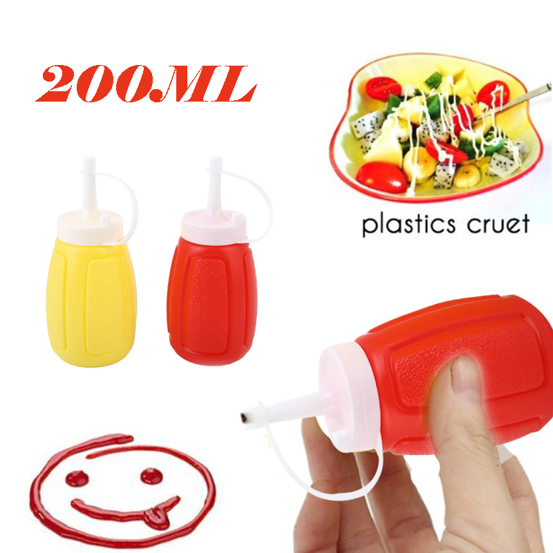 200ML Ketchup Bottle Squeeze Vinegar Sauce Mayonnaise Salad Condiment ABS Dolce Gusto Cocina Kitchen Gadget image