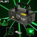 Чужой удаленного 50 мВт зелёный лазер, прожектор профессиональное сценическое освещение с эффектом DMX 512 сканер диско DJ вечерние шоу огней - фото