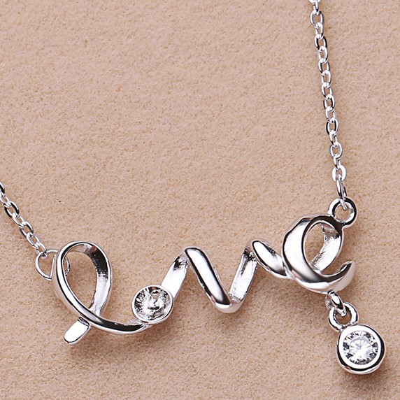 LOVE Pearl Necklace Mountings Necklace Pendant Findings Necklace Chain Settings Jewelry Parts Fittings Charm Accessories
