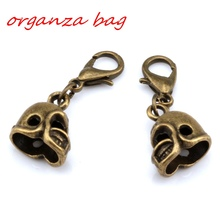 Hot Sell ! 10pcs Antique Bronze 3D Small Football Helmet Charms With lobster clasp Fit Charm Bracelet DIY Jewelry 12x27mm  nm340