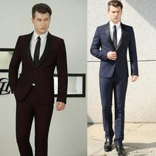 Blazer men formal dress latest coat pant designs marriage suit homme terno masculino trouser triped wedding suits mens