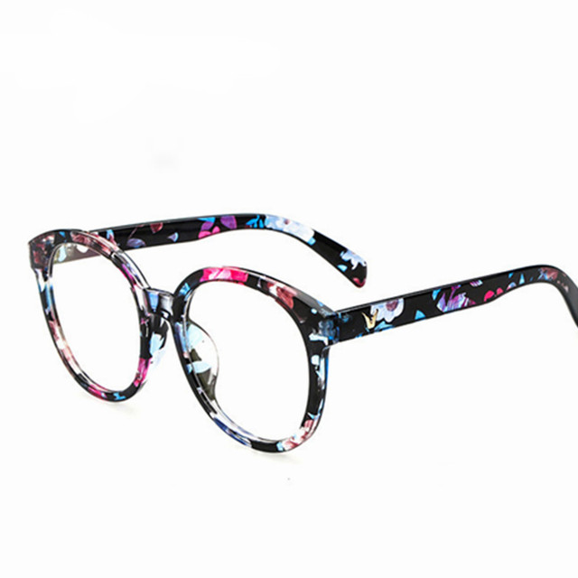 Fashion round V Shaped Box Eye Glasses Frames Brand For Men New ...