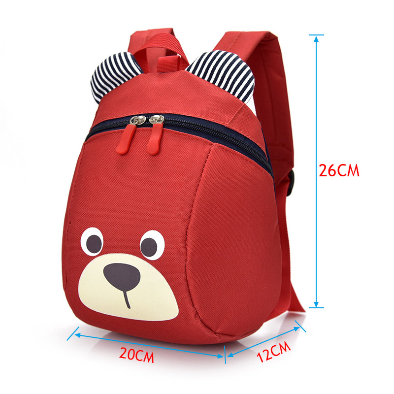 Droppshipi Fashion Children Backpack Anti lost Canvas Bag Cartoon Animal Bear Pattern Kindergarten Kids Baby School Bags dg88 in Backpacks from Luggage Bags