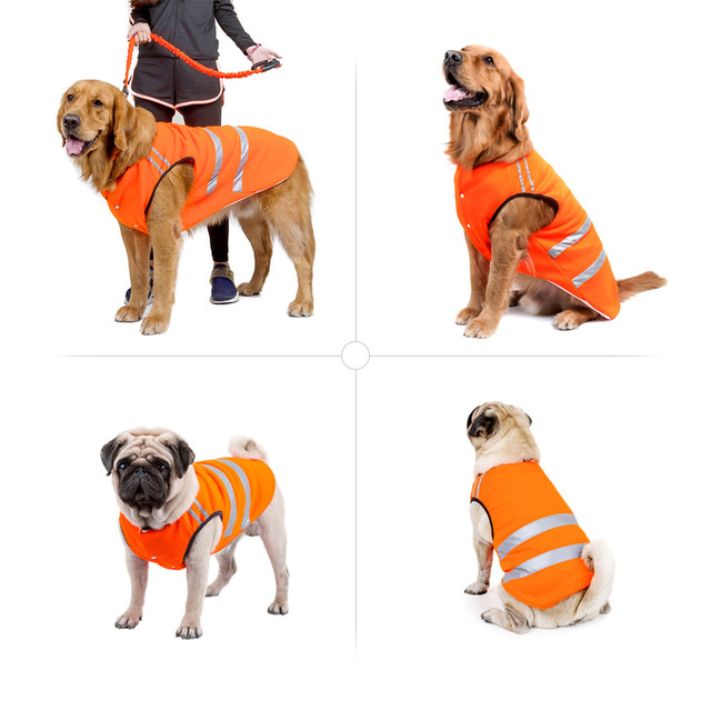 b4472a92f745d Pet Reflective Vest Hunting Dog Vest Safe Walking Training Cloth Outdoor  Activity Coat Clothing for Dogs Pet Clothing Protects