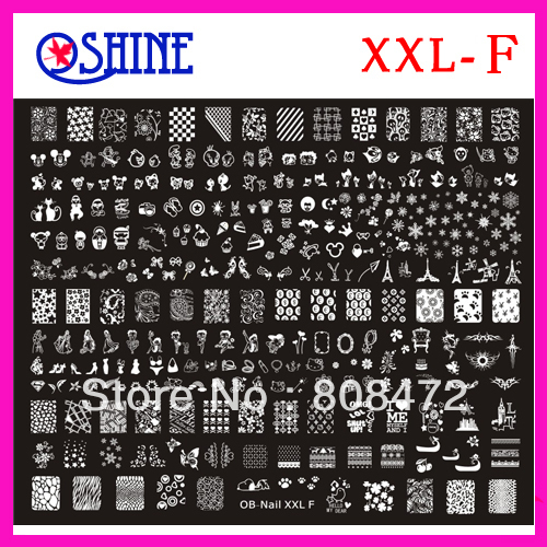 Nail stamping big size template xxl size xxl f designs nail art nail stamping big size template xxl size xxl f designs nail art bigtemplate diy discs prinsesfo Image collections