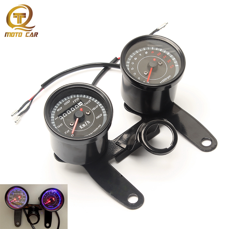 Motorcycle Mechanics Tachometer Speedometer Odometer  Instrument Scooter for Honda Cm125 Cbt125 Kawasaki Suzuki GN125 150 Retro old school motorcycle gauges