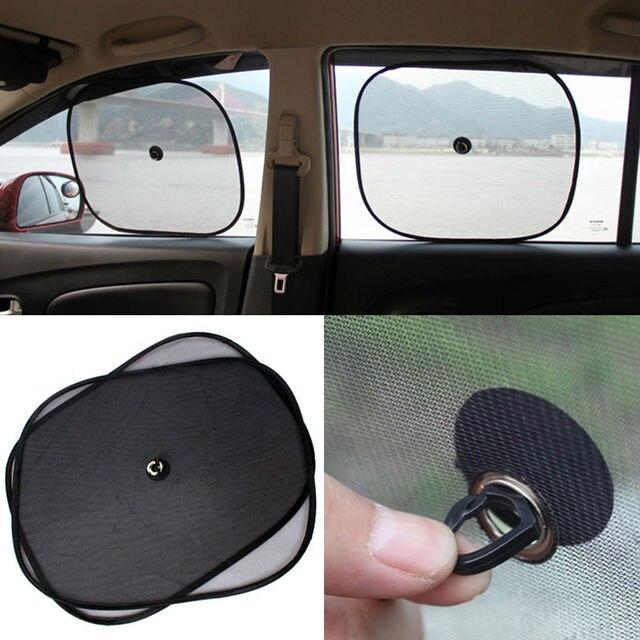2pcs/lot Black Side Car Sun Shade Rear Window Sunshade Cover Mesh Visor  Shield Screen