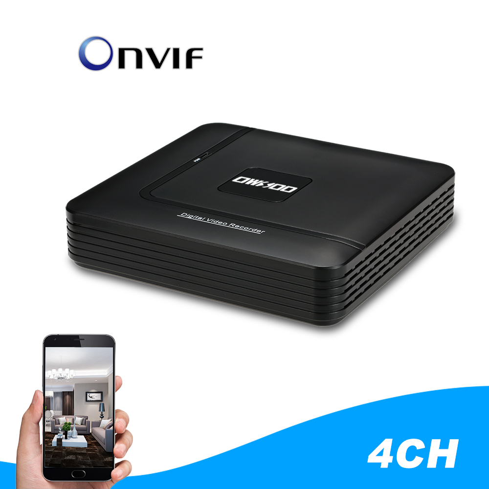 OWSOO 4CH 1080P Hybrid NVR AHD TVI CVI DVR 5 in 1 Digital CCTV Security Camera