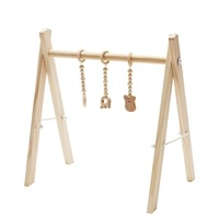 Nordic Baby Room Decor Wooden Play Gym With Three Mobiles Toy Pine Wood Baby Frame Play Gym Sensory Toy Photography Props