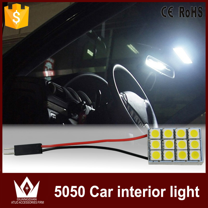 guang dian car light led interior lamp roof bulb dome panel reading light door led trunk light. Black Bedroom Furniture Sets. Home Design Ideas