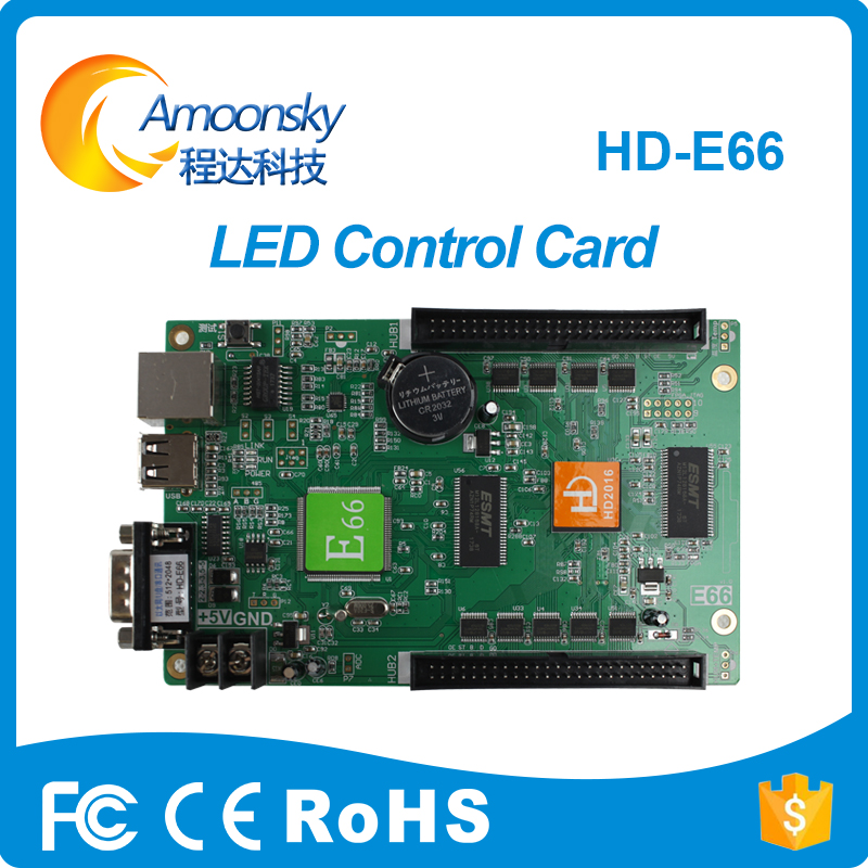 Huidu count remote digital led control card HD-E66 for led display screen outdoor indoor