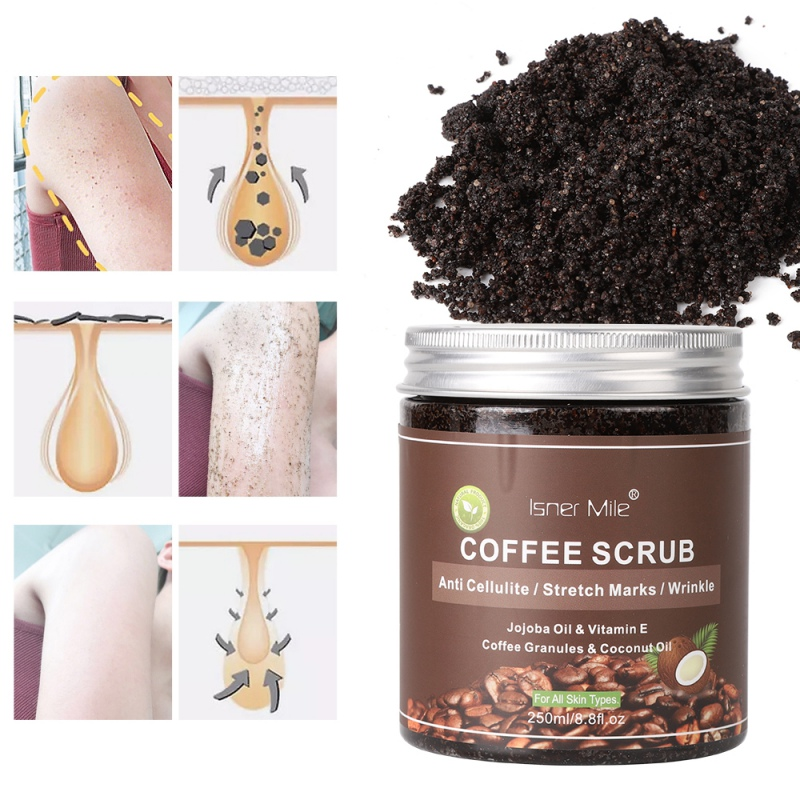 New Coffee Facial Scrub Whitening Cream Exfoliators Exfoliation Remove Cleaning Cellulite Cream For Skin Face