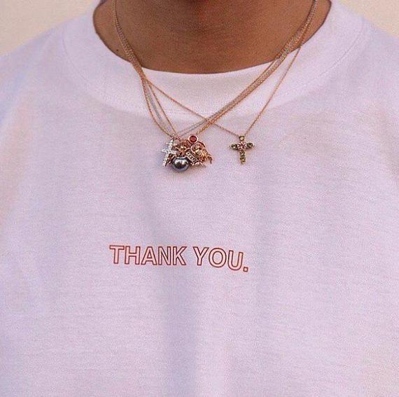 Merci T-SHIRT vous êtes la bienvenue lettre TUMBLR HIPSTER TEE CRENWECK été pas de TAHNK vous hauts unisexe col rond coton vêtements chemise