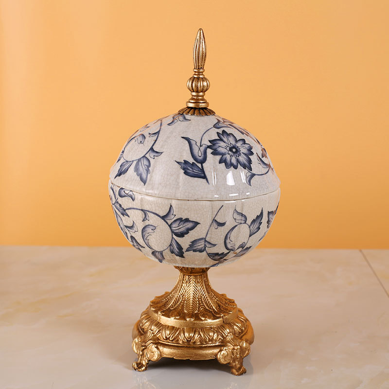 porcelain cans European style home furnishing high-end living room ornaments cracks applique wedding gifts ceramics