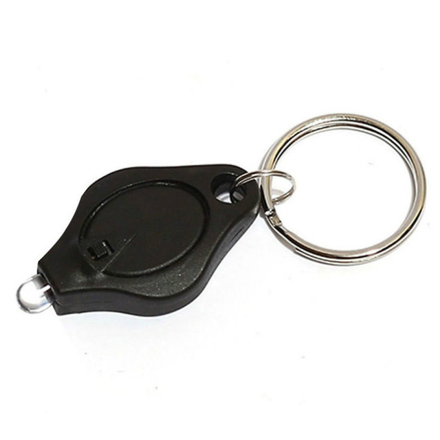 Mini Waterproof LED Flashlight Keychain Finger Light  Keyring Micro-Light White Beam Lamp Torch