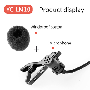 Image 5 - YC LM10 ميكروفون صغير محمول مكثف كليب على التلبيب Lavalier Mic السلكية Mikrofo/ميكروفون آيفون X 8 7 كانون نيكون
