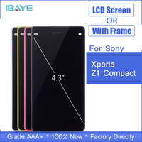 LCD For Sony Xperia Z1 Compact Mini D5503 M51W LCD Display Panel Monitor Module Touch Screen Digitizer Sensor Glass Assembly