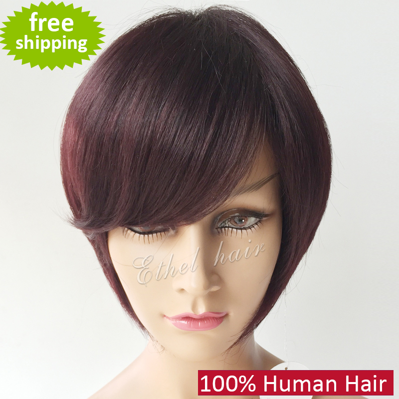 Superb Aliexpress Com Buy 7A Grade Short 100 Human Hair Bob Wigs For Hairstyles For Men Maxibearus