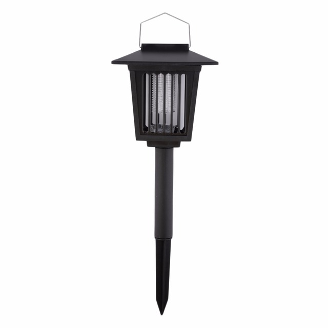 Solar Powered Rechargable Batteries lawn light Insecticidal Lamp 3LED Light Insect Pest Bug Killer for Outdoor Brand New Garden