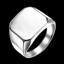 Punk Men Ring Square Big Width Signet Rings Fashion Male Finger Ring Stainless Steel Jewelry oulai777 signet ring men tainless silver jewelry signet ring men s punk finger fashion hip hop gothic ring men accesories