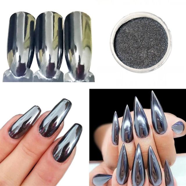 Aliexpress Buy 05g Black Mirror Dazzling Nail Glitter Metal