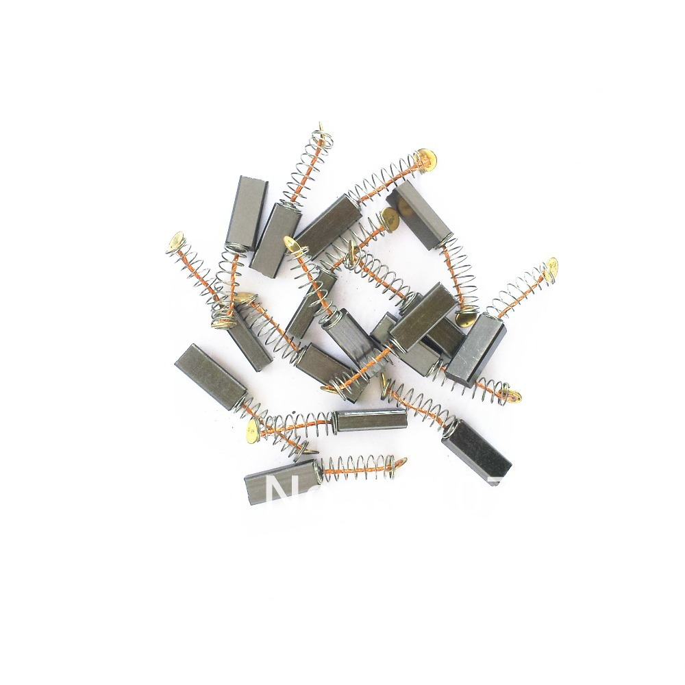 10/20/200pcs 4x6x13mm Electric Motor Carbon Brushes Springs Wire Leads For Power Tool Hand Drill Angle Grinder Saw Hammer Motor стоимость