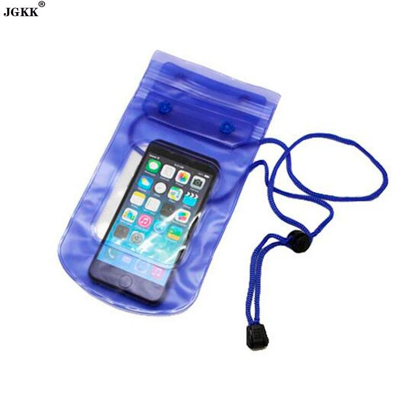 JGKK Waterproof phone Bag Case For iPhone 5 5S 6 6S 7Plus Travel Swimming Pouch Adjustable Lanyard bag for phone under 5.5 inch pochette étanche pour téléphone
