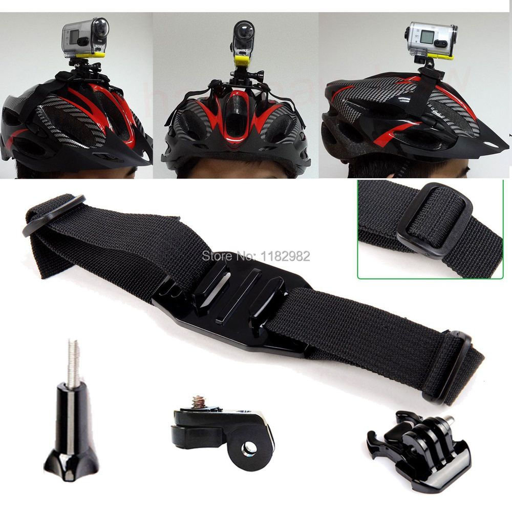 4in1 1set Helmet Strap Mount Kit for Quick Release Buckle/ Helmet strap / Screw So@y Action Cam HDR-AS15/AS20/AS30V/AS100V Gift