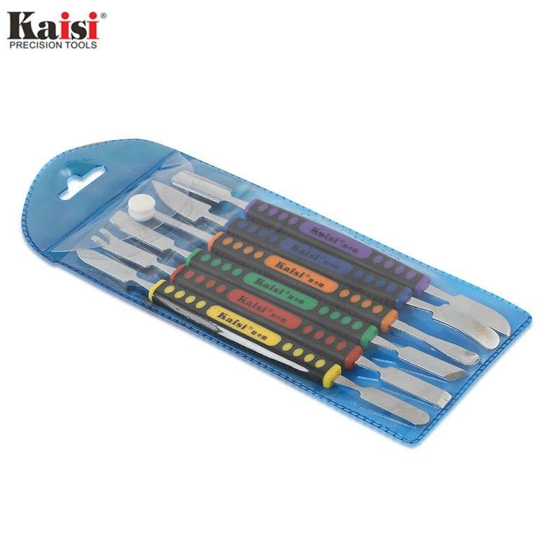 Juego de herramientas manuales Kaisi 6 unids piezas de doble extremo de Metal Spudger para iPhone iPad Tablet teléfono móvil