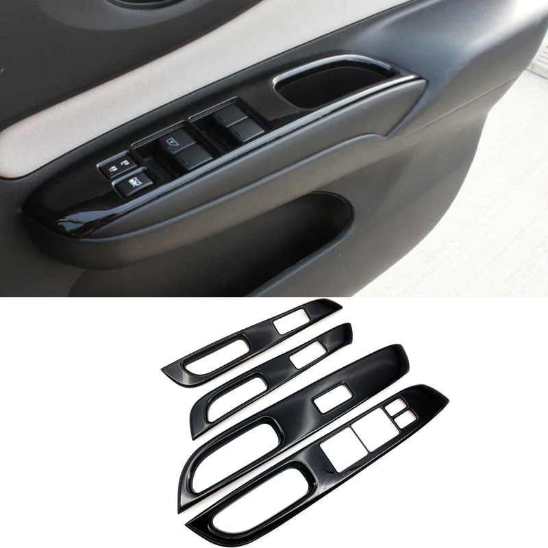 Car Interior Decorative Accessories For Nissan Note E12 E power Right Drive Inner Window Switch Cover Piano Black ABS 2016 2019|Interior Mouldings| |  - title=