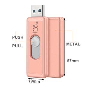 Image 4 - Super Speed USB 3.0 128GB USB Flash Drive Push And Pull Pendrive 3.0 64GB Pen Drive 32GB Real Capacity U Stick Dropship