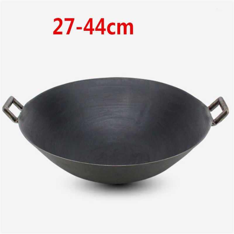Olla De Cocina Wok De Doble Oreja De Hierro Fundido Sin