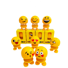 An Funny expressive yellow spring doll It can shakes be plac
