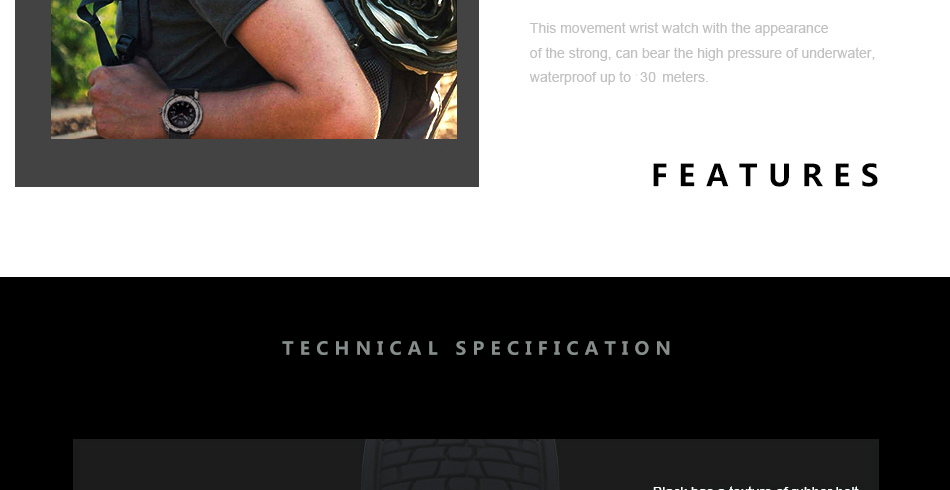 SINOBI Surfing Clock 3Bar Waterproof Watch Mens Sports Wristwatch Designer Branded Chronograph Male Spy Geneva Quartz-watch 007 18