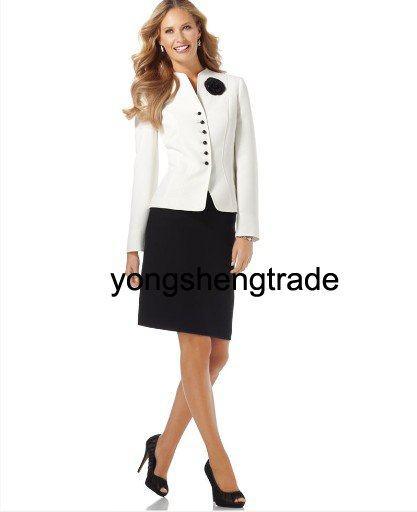 f21d4bb5d4 Online Shop Women's Suits Custom Made Suit Three-Button Skirt Suit ...