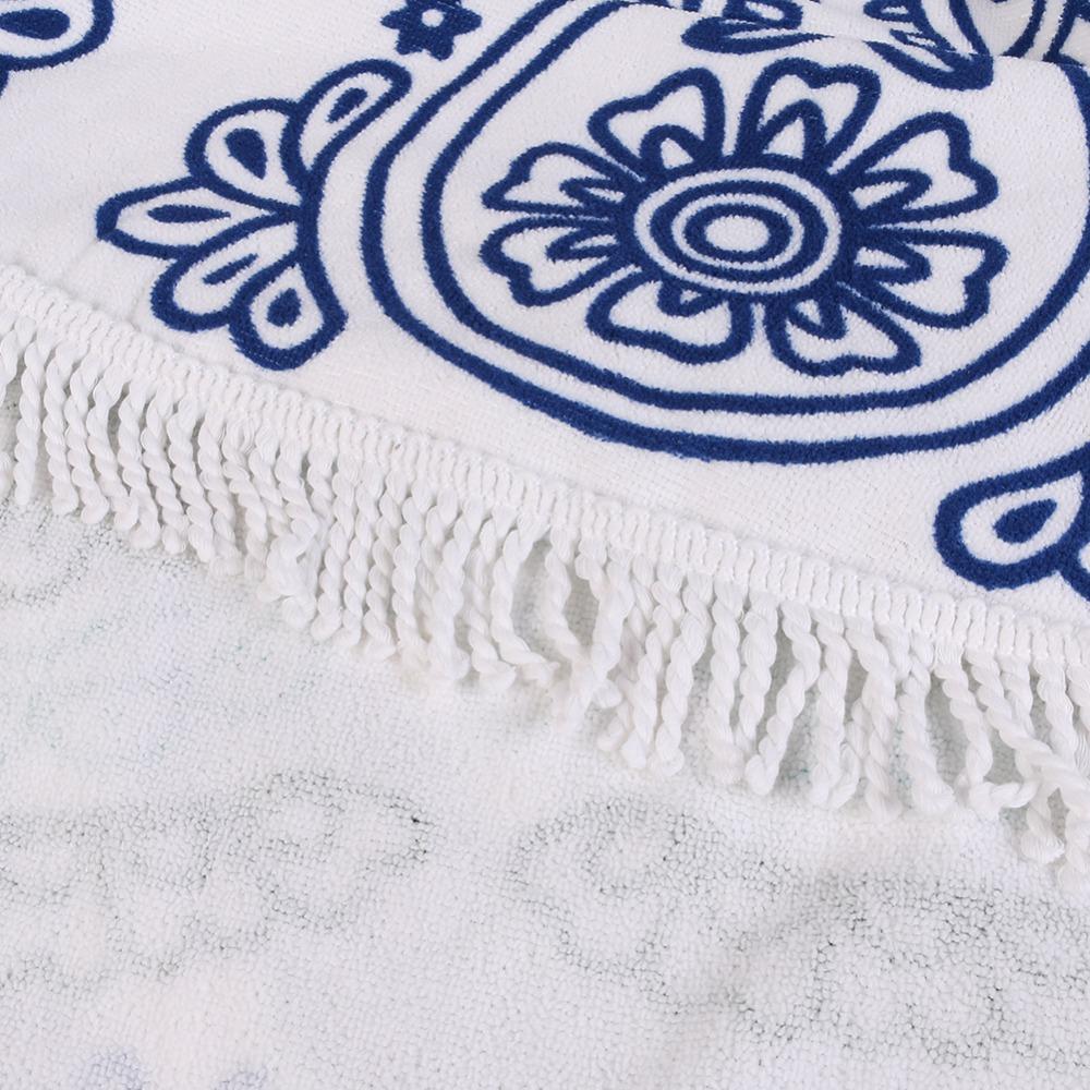 Microfiber Summer Sport Bath Towels Round Sand Beach Towel 1003103001_4