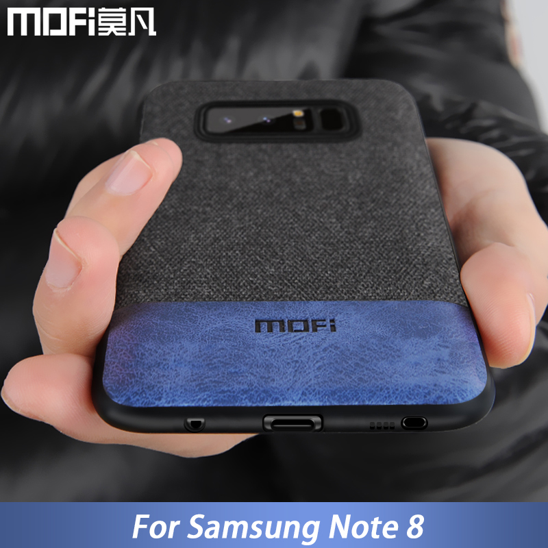 buy popular f46fe 1ef2b US $8.69 13% OFF|MOFi case for Samsung note 8 case cover silicone edge men  business note 8 back cover for samsung galaxy note 8 note8 case-in Fitted  ...