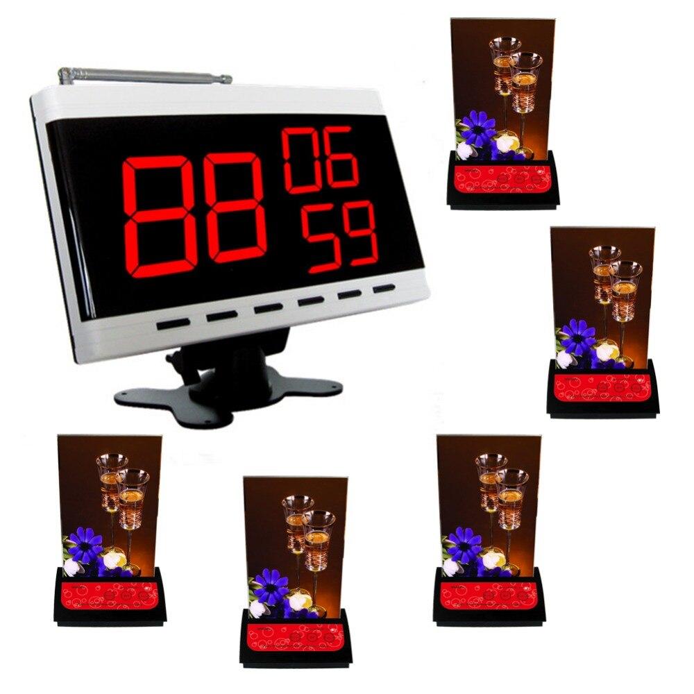 Беспроводная система вызова, обслуживание боты, 5 шт. таблицы абонента из ape730 и 1 шт. белый дисплею из ape9300.