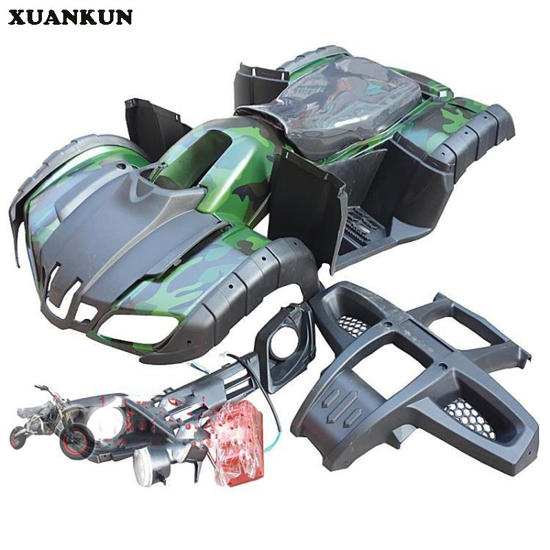 XUANKUN Four Rounds Of Beach Car Accessories Beach Car Shell Full Car Plastic Parts Headlights Cushions Iron Tank environmentally friendly pvc inflatable shell water floating row of a variety of swimming pearl shell swimming ring