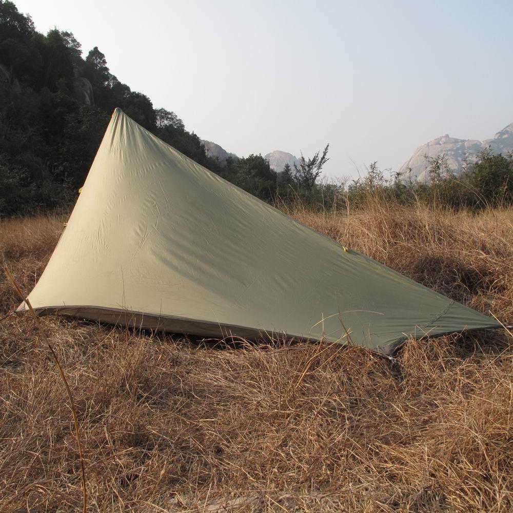 AXEMEN negro Hawk ultraligero doble capa 1 2 personas montaña hilado inalámbrico tienda de Camping al aire libre